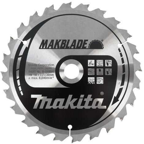Disco de sierra circular de 260 mm 80Z MAKBLADE Makita