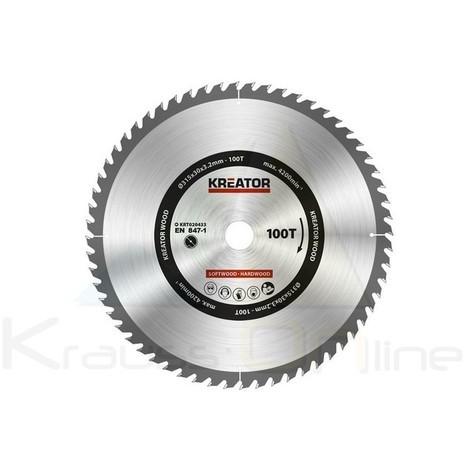 Disco de sierra madera 315mm100d (KRT020433)