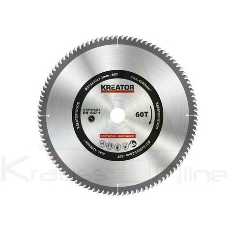 Disco de sierra madera 315mm60d (KRT020432)