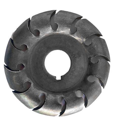 Disco de talla de madera, 12 dientes, orificio de 16 mm de diametro, 65 mm de diametro,Negro