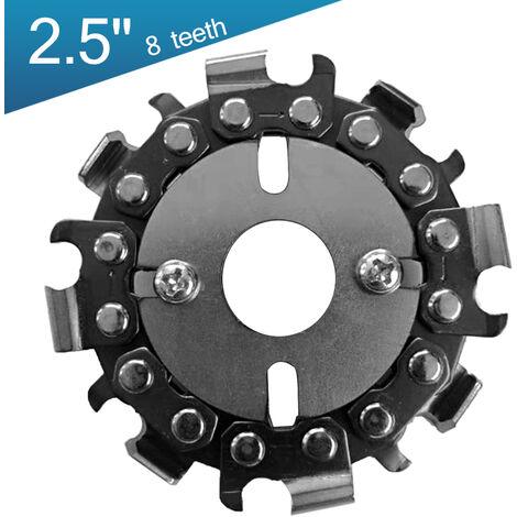 Disco de talla de madera de la placa de la cadena de carpinteria de 2,5 pulgadas y 8 dientes