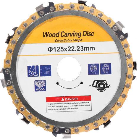 Disco de talla de madera, disco de sierras de cadena para amoladora de cadena de carpinteria