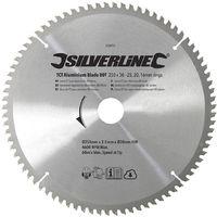Disco de TCT para aluminio, 80 dientes 250 x 30 - anillos de 25, 20 y 16 mm
