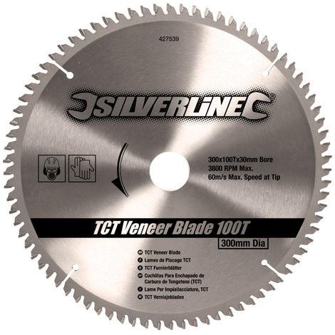 Disco de TCT para madera contrachapada, 100 dientes 300 x 30 - anillos de 25, 20 y 16 mm - NEOFERR..
