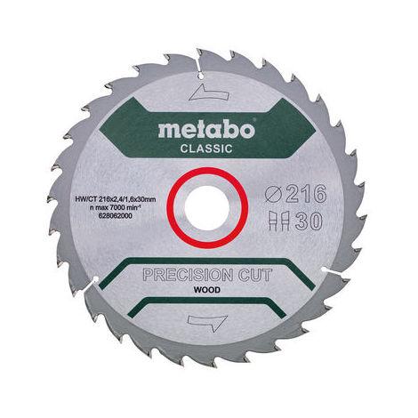 Disco dentado de 216x30mm Metabo Precision Cut Wood - Classic