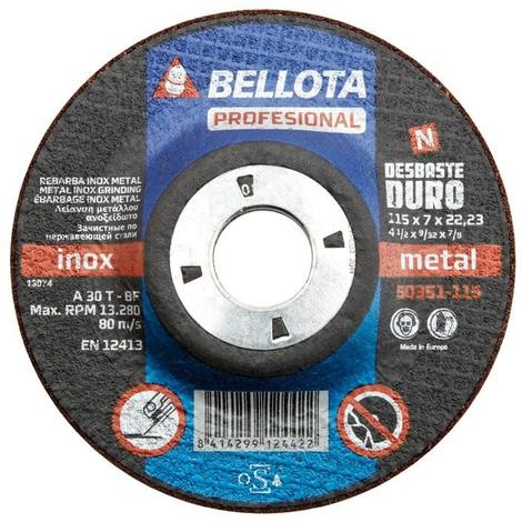 Disco desbaste 180x7x22-50351-180 (5 unidades) BELLOTA