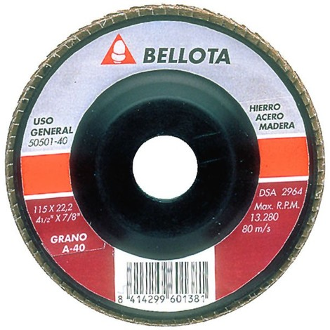 Disco desbaste láminas metal Bellota 50501 115 mm