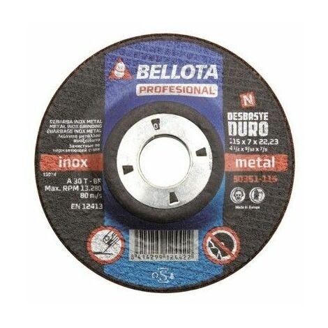 "main image of ""Disco Desbaste Metal 115x7x22 Mm Bellota"""