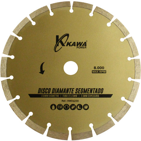 DISCO DIAMANTE SEGMENTADO 230X2.6X22.23X10MM - Kawapower