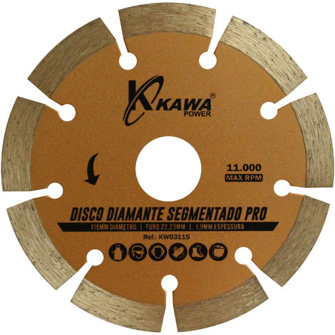 DISCO DIAMANTE SEGMENTADO PRO 115X1.9X22.23X10MM - Kawapower