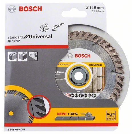 Disco Diamante Universal - BOSCH - 2608602191 - 115X1,6 MM