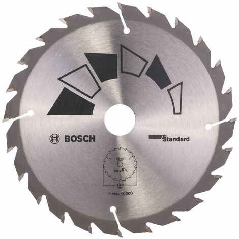 Disco estándar Bosch para sierra circular 150 x 20/16 mm 24 dientes