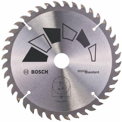 Disco estándar Bosch para sierra circular 160 x 20/16 mm 40 dientes