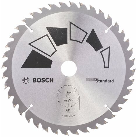 Disco estándar Bosch para sierra circular 205 x 16/18/20/24 mm 40 dientes