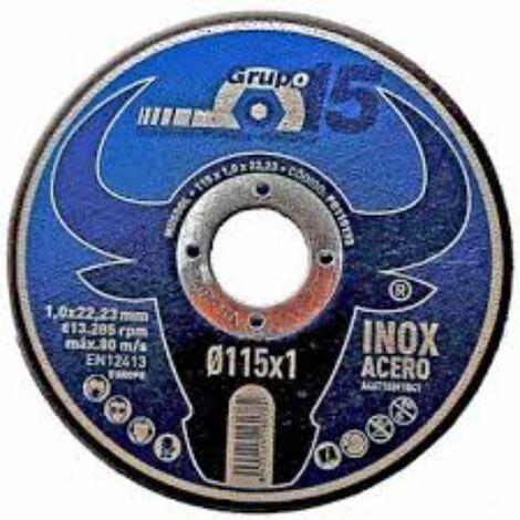 DISCO EXTRAF.CORTE INOX-HIERRO 115X1