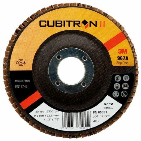 Disco laminas conico 967A 115mm P60 Cubitron II 65052 3M