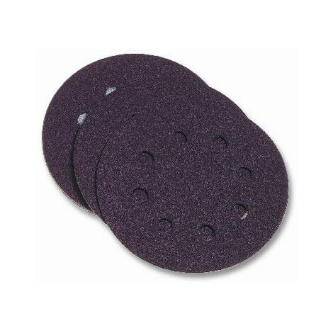 Disco Lija Papel Perforado Velcro Para Lijadora Grano 240 125 Mm Pg Maxi