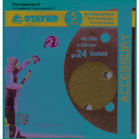 Disco Lija Stayer Gotele Velcro Para Lijadora Grano 024 225Mm 12470