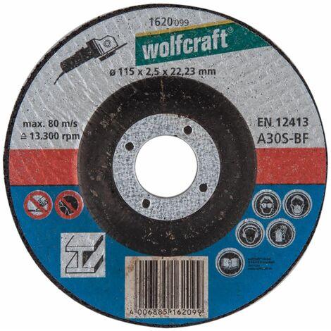 Disco para amoladora corte metal Wolfcraft 5 discos ø125mm x 2,5 mm