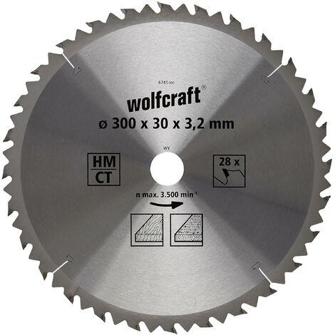 """main image of """"Disco para sierra circular cortes rápidos y finos en madera Wolfcraft 300 x 30 mm 28 dientes"""""""