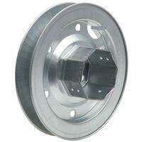 Disco persiana metalico espiga metalica 180x60 mm. cinta 18/22 mm.