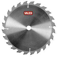 Disco ricambio sega circolare valex lama acciaio mm.140 18 denti foro 16mm. taglio legno