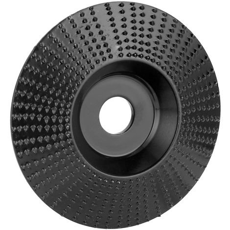 Disco tallado, diametro interior de 16 mm, diametro exterior de 98 mm, negro