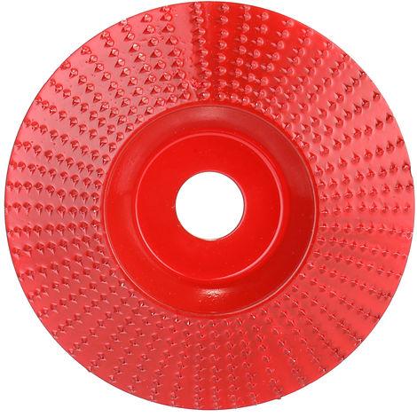 Disco tallado, diametro interno de 16 mm, diametro externo de 98 mm, rojo