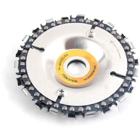 Disco y cadena de amoladora de 4 pulgadas, con tornillos de fijacion