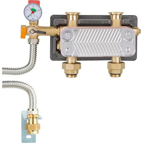"Disconnecteur HeatBloc DN25 2x1"" male - 2xF1"", 3 bars, Si-Grp, raccord MAG, 17 KW"