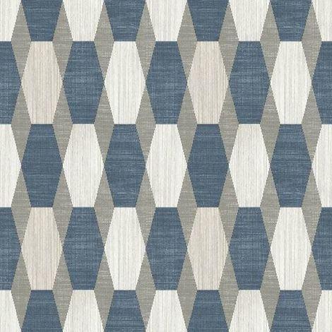 DISCONTINUED 3D Geometric Wallpaper Glitter Effect Sparkle Retro Paste The Wall Vinyl Muriva