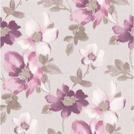 DISCONTINUED Abstract Watercolour Floral Flower Wallpaper Marissa Luxury Fine Decor