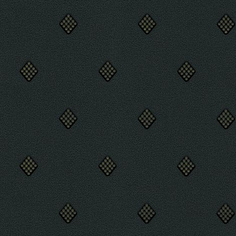 DISCONTINUED Crystal Diamond Wallpaper Luxury Textured Embossed Charcoal Black Gold Belgravia