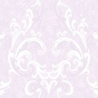 DISCONTINUED Damask Wallpaper Traditional Luxury Motif Feature Decor Lilac Juliette Muriva