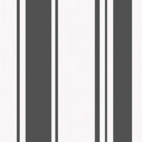 DISCONTINUED Fine Decor Stripe Black White Wallpaper
