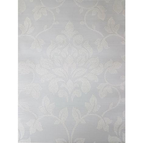 DISCONTINUED Grandeco Grey Damask Glitter Wallpaper