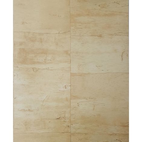 DISCONTINUED Lutece Wood Panel Beige/ Brown Wallpaper