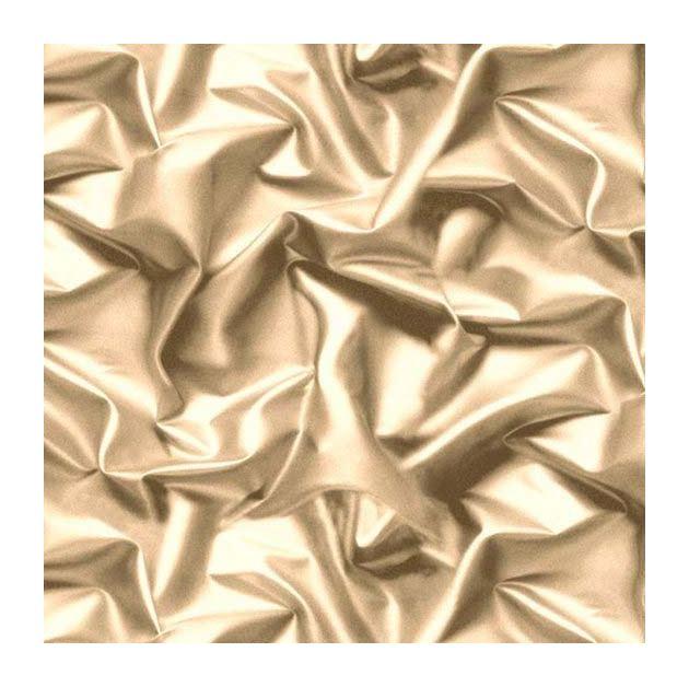 Wallpaper Muriva Cream // Gold Luxury Gathered Silk Crushed Velvet F729-07