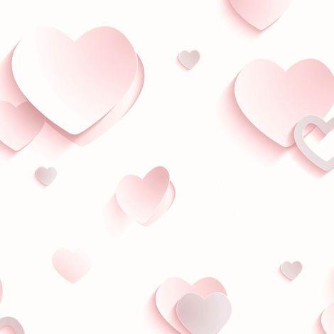 DISCONTINUED Ugepa 3D Hearts Pink Wallpaper