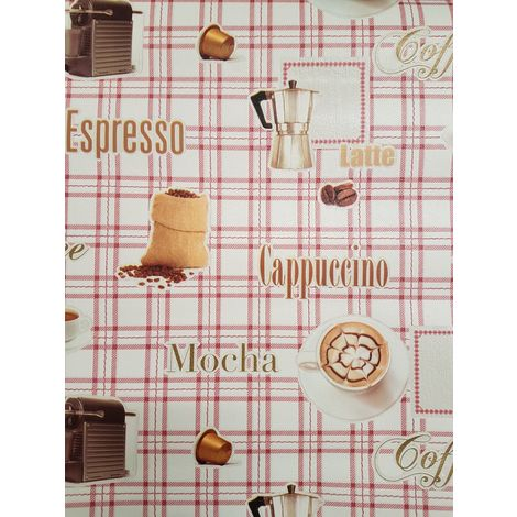 DISCONTINUED WL-E72510 UGEPA RED CHECK KITCHEN COFFEE WALLPAPER