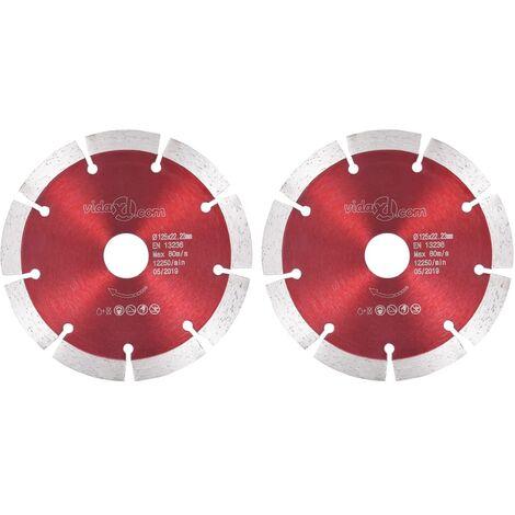 Discos de corte de diamante 2 unidades acero 125 mm