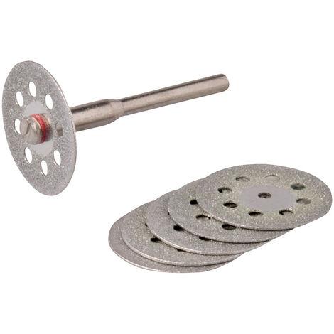 Discos de corte diamantados/perforados para herramienta rotativa, 6 pzas Ø22 mm - NEOFERR