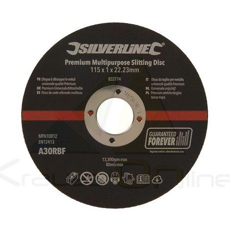 Discos de corte reforzado multiuso, 10 pzas (Silverline-833774)