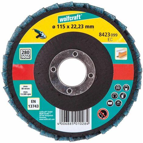 Discos de fieltro para lijar y pulir para amoladora angular Wolfcraft Ø 115