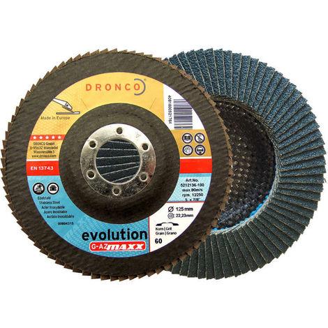 Discos de láminas abrasivas zirconio (base abombada) G-AZ MAXX - dronco_evolution_gazmaxx
