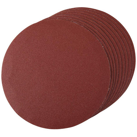 Discos de lija autoadherentes 180 mm 10 piezas-180 mm grano 120