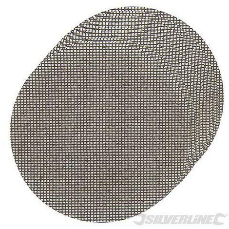 Discos de lija autoadherentes con malla abrasiva 225 mm, 10 pzas, 4 x grano 40, 4 x grano 80, 2 x grano 120