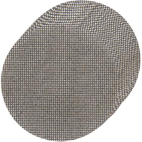 Discos de lija autoadherentes con malla abrasiva 225 mm, 10 pzas 4 x grano 40, 4 x grano 80, 2 x grano 120 - NEOFERR