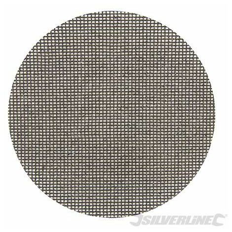 Discos de lija autoadherentes con malla abrasiva 225 mm, 10 pzas, Grano 180