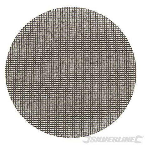 Discos de lija autoadherentes con malla abrasiva 225 mm, 10 pzas, Grano 80